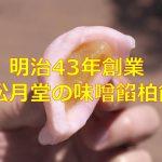 明治43年(1910年)創業の松月堂の味噌餡柏餅が最高に美味しかった! #地域ブログ #荒川区