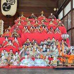 南千住にある素盞雄神社(すさのおじんじゃ)の神楽殿にて立派なひな飾りが披露されています(2020年2月19日撮影) #地域ブログ #荒川区のはなし #荒川区