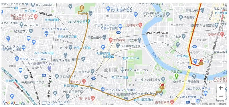 東京都荒川区内で実施される東京2020オリンピックの聖火リレーの日程やコースを写真付きで紹介