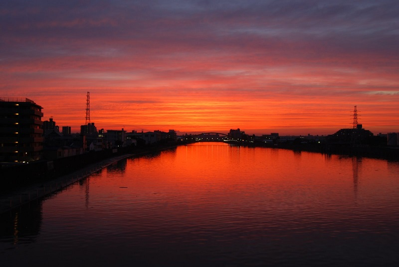 東京都荒川区で夕焼け空を見るならここが最高にお勧め!
