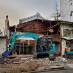 東京都荒川区西尾久にあった仙石湯の建物が取り壊し中