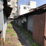 荒川区荒川4丁目に残っていた昭和の長屋が取り壊されていました