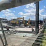 閉店した「バーミヤン 南千住店」と「魚屋路 南千住店」の建物が取り壊されました