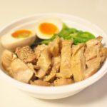 町屋駅前にある麺家 千祥でテイクアウト限定の鶏もも甘煮丼が新発売