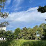 2021年8月19日、荒川区内でも早朝に虹を見ることができました!